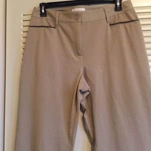 Talbots Woman's 14 Curvy Cotton Blend Pants Tan